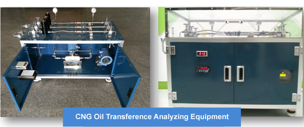 CNG oil transference analyzing equipment