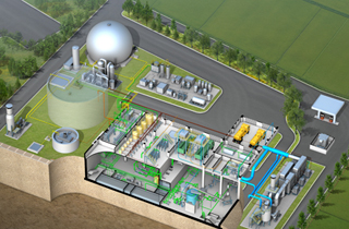 Organic waste resource energy production facility in Chungju  2